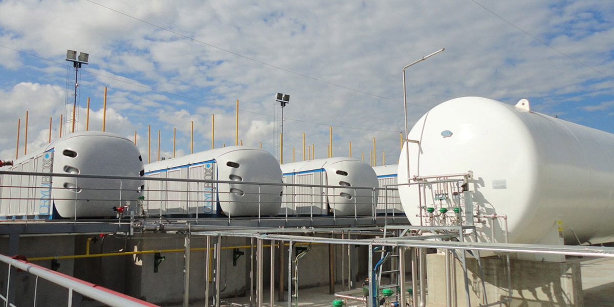 Estación de Producción de GNL Cryobox para capturar gas en Dakota del Norte