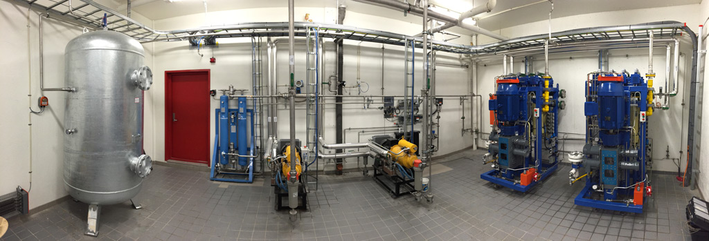 Two Nanobox Compressors to produce Compressed Biomethane Gas (CBG) by utilizing the biogas originated in the sewage sludge.