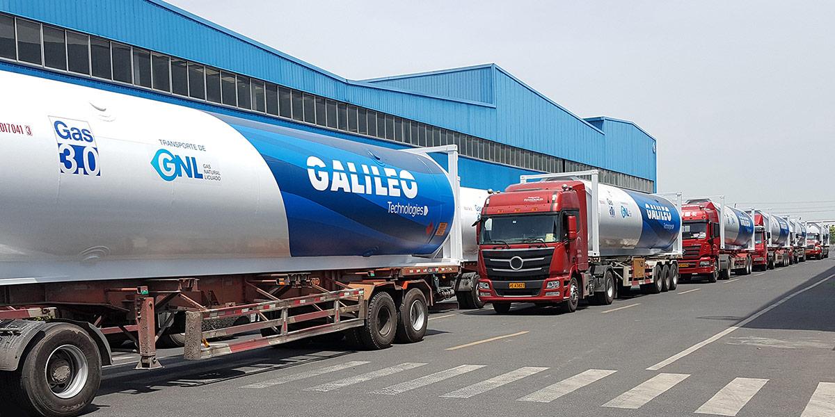 El Gasoducto Virtual transporta GNL en cisternas criogénicas.