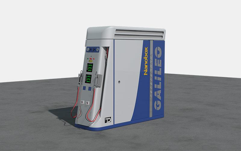 Compresor y Surtidor de GNC/GNV Nanobox de Galileo Technologies - Todo en Uno