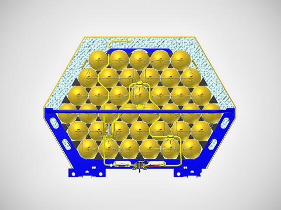 Contenedores Cryo-MAT de GNC frío: almacenan 40% más - Galileo Technologies