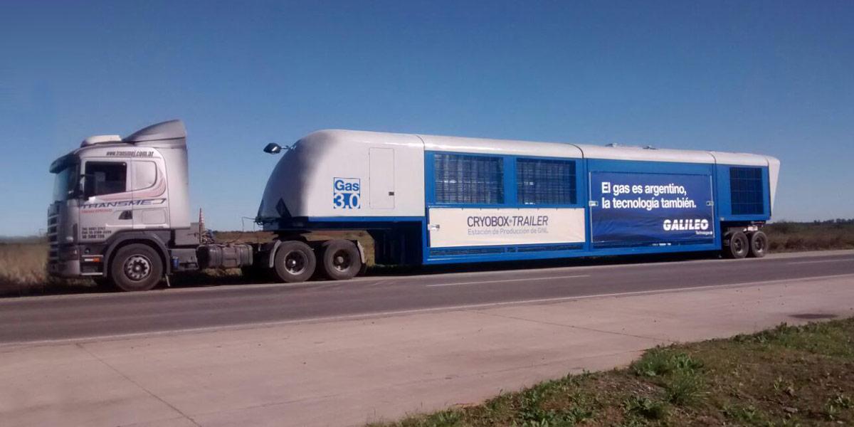 Los Cryobox-Trailer se desplazarán de un yacimiento a otro para realizar la licuefacción del gas natural directamente en el terreno.