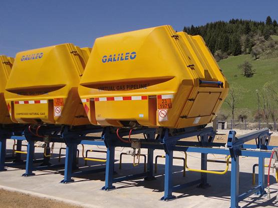 Contenedores MAT de GNC: almacenan 1500 Nm3 - Galileo Technologies
