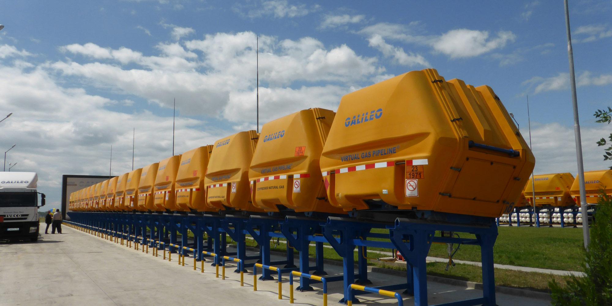 El Gasoducto Virtual distribuye GNC en contenedores MAT - Galileo Technologies