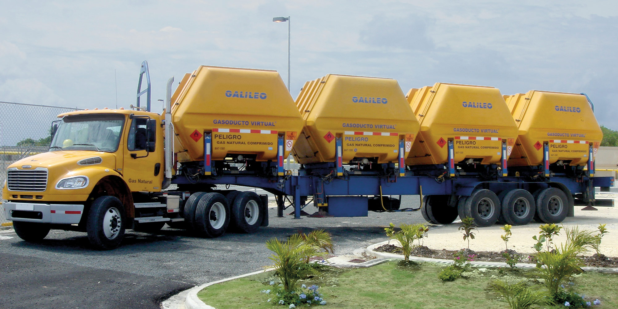 Tráileres VST para el transporte de gas natural - Galileo Technologies