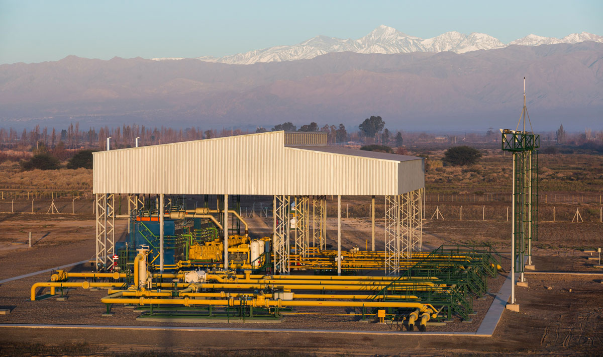 MX 1000 Pipeline Boosters at Boosting station in El Pastal, Mendoza Province, Argentina