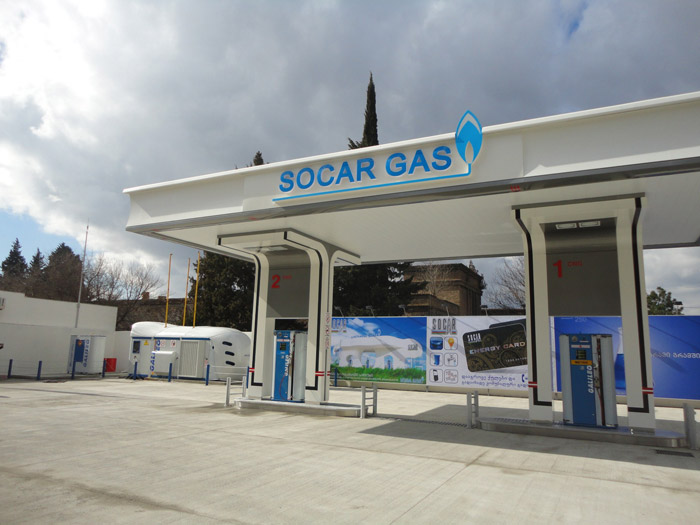 New SOCAR's CNG filling station equipped by Galileo.