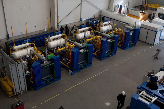 Microskid Process MX 200<sup>®</sup> gas compressor packages: 150 HP installed power per unit.