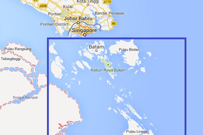 Área de distribución de GNC por vía marítima cubierta por PLN Batam.