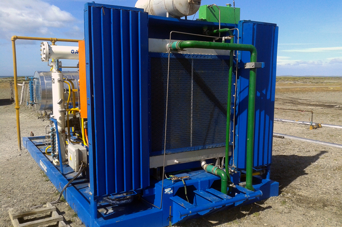 Galileo compressor for gas-lift application in the Posesión Well, Punta Arenas, Chile.