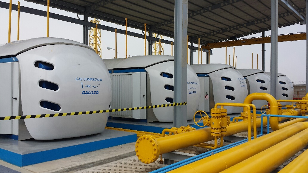 Sixteen Microbox CNG compressors installed in Muara Tawar will supply natural gas to meet electric demand from Greater Jakarta customers during the peak-load periods.