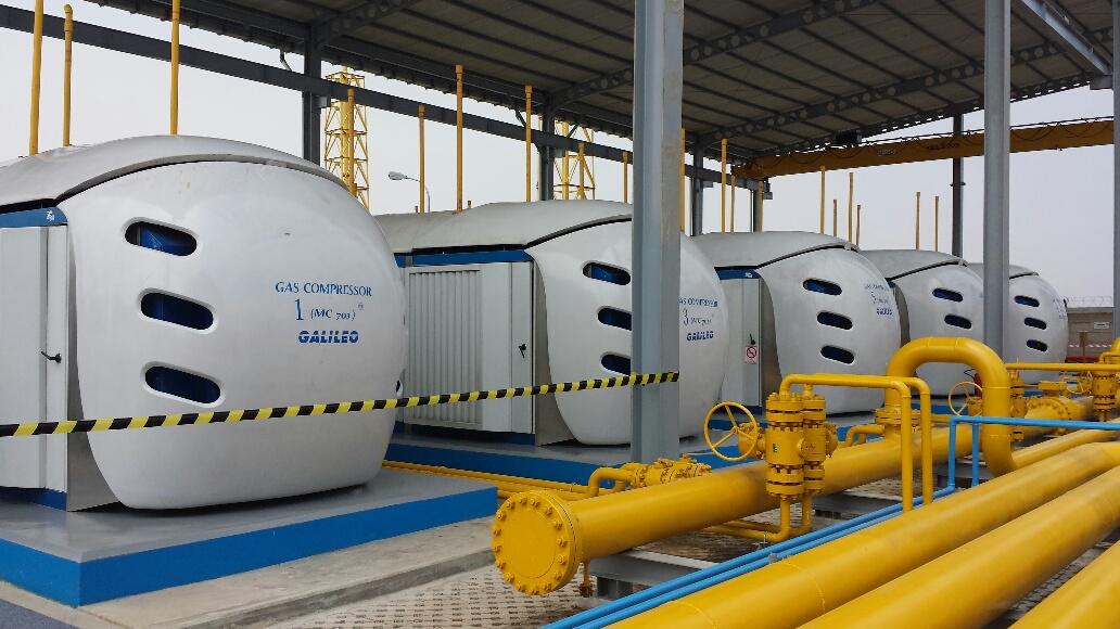 Dezesseis compressores de GNC Microbox® instalados em Muara Tawar fornecerão o gás necessário para satisfazer a demanda de energia elétrica dos moradores da grande Jacarta.
