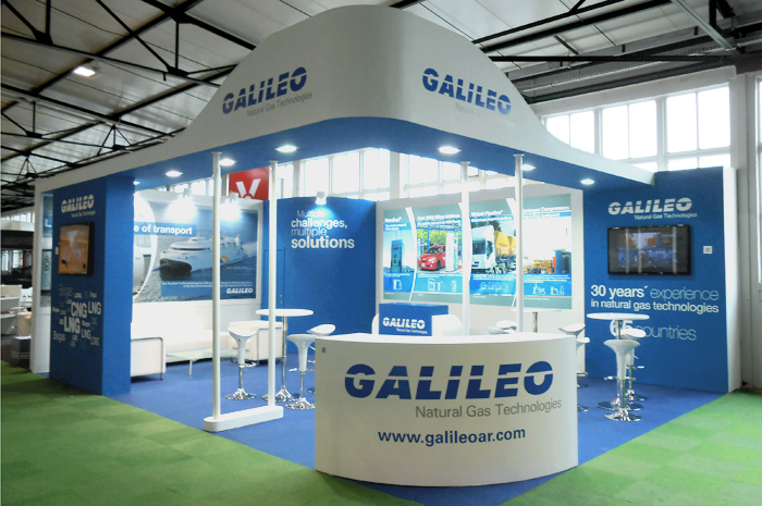 Galileo's booth