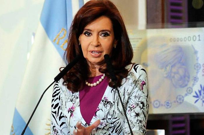 Argentine President Cristina Fernández de Kirchner during the inauguration.