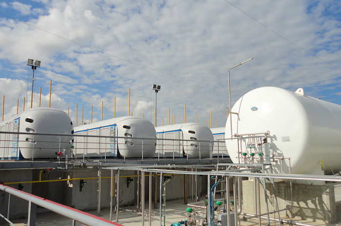 Cryobox LNG Production Stations installed at the Buquebus plant in San Vicente for the provision of fuel for  the