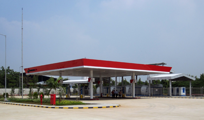 New CNG filling station of Pertamina Gas in Jakarta, Indonesia, fully equipped by Galileo.