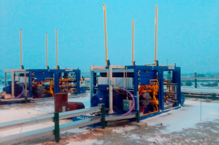 Galileo MX 200 compressors at the service of Pan American Energy (PAE) in Cerro Dragon, Chubut province, Argentina.