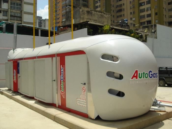 Galileo's Gigabox CNG Compressors servicing Buscaracas at Los Ilustres Station, Caracas.