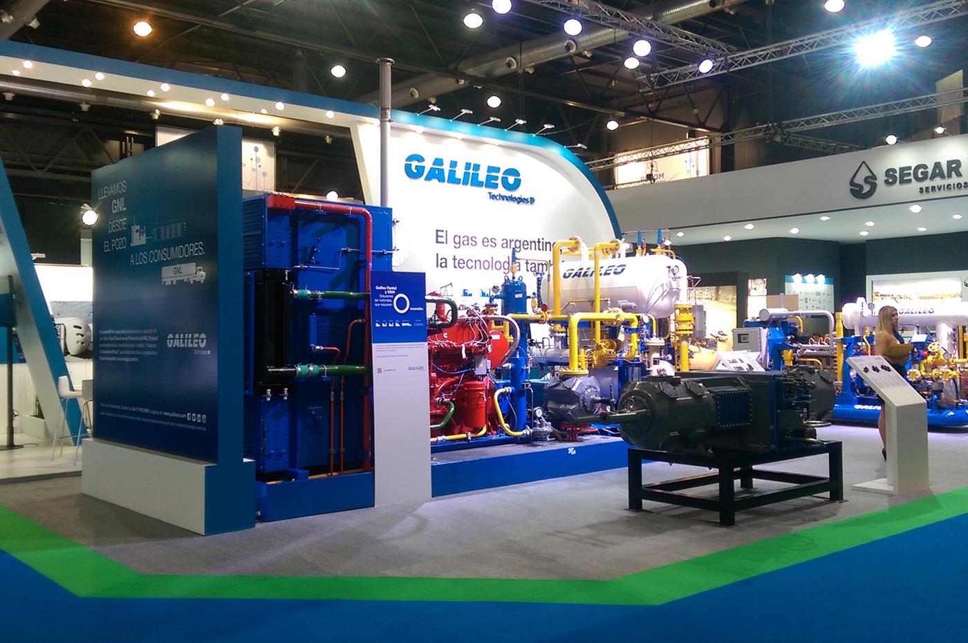 No seu stand,  Galileo Technologies exibiu sua linha de compressores
