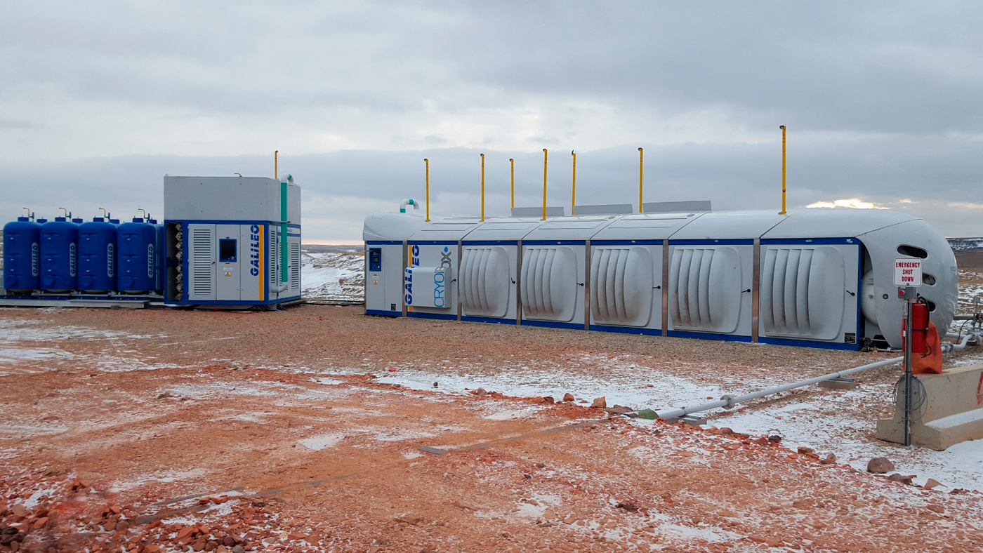 ZPTS Gas Conditioning Plant connected to Cryobox LNG-Production Station.