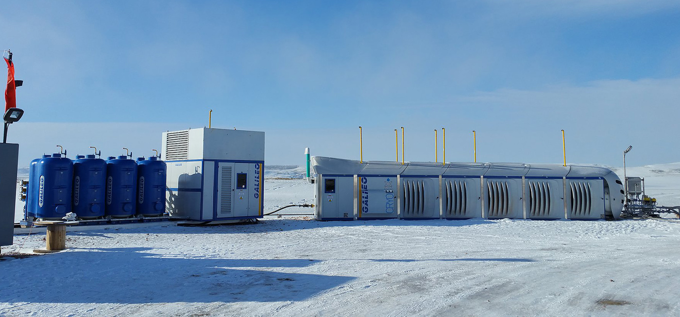 ZPTS Gas Conditioning Plant connected to Cryobox LNG-Production Station